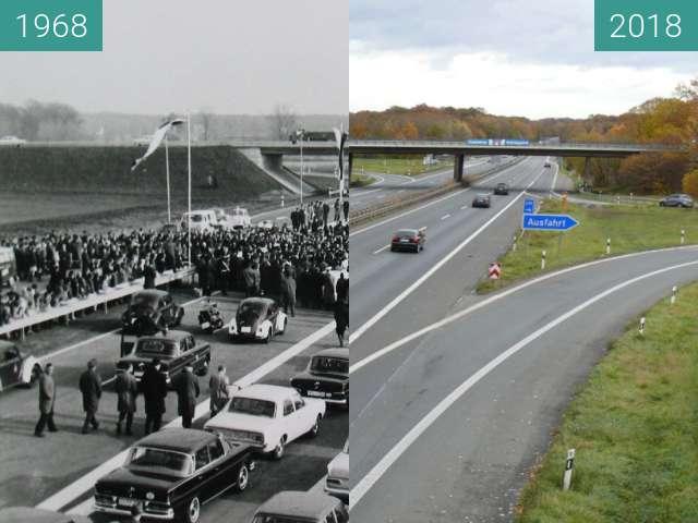 Before-and-after picture of Eröffnung der Hansalinie between 1968-Nov-14 and 2018-Nov-14