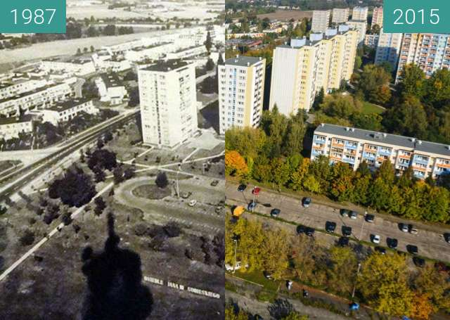 Before-and-after picture of View from SLR Piątkowo tower between 1987-Oct-03 and 2015-Oct-03