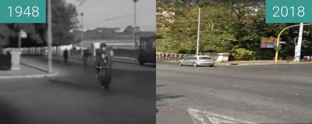 Before-and-after picture of Rome: Ladri di Biciclette 70 years on between 1948-May-08 and 2018
