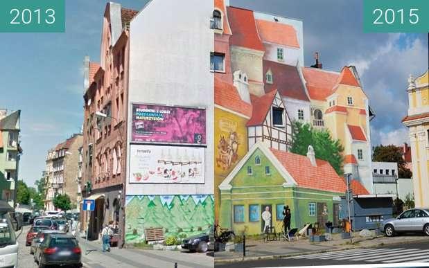 Vorher-Nachher-Bild von Śródka Tale with Trumpeter on the Roof ... zwischen 2012 und 2015