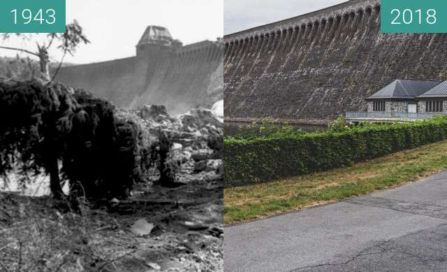 Before-and-after picture of The Dam Busters between 05/1943 and 2018-Aug-15