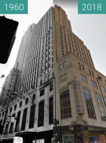 Before-and-after picture of Carew Tower between 1960 and 2018