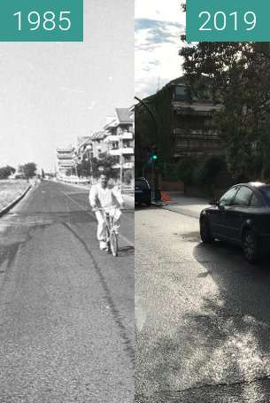 Before-and-after picture of Calle Escultor Fernandez Marquez between 1985 and 2019-Apr-01