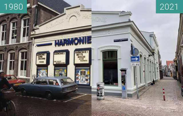 Before-and-after picture of De Harmonie 1980-2021 between 1980 and 2021-Mar-23