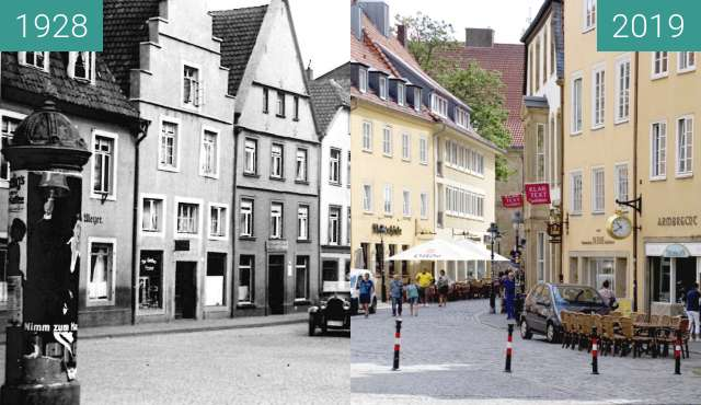 Before-and-after picture of Marktplatz between 1928 and 2019-Jul-01