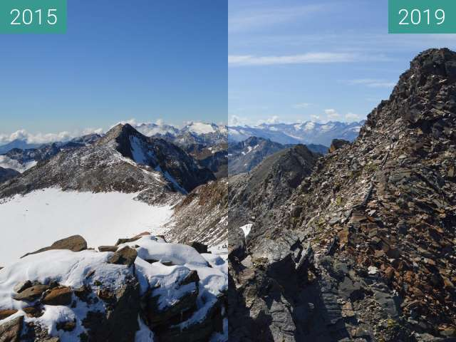 Before-and-after picture of Stubai Top of Tyrol 2 between 2015-Sep-08 and 2019-Aug-27