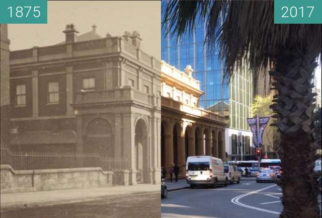 Before-and-after picture of Old Supreme Court building between 1875 and 2017