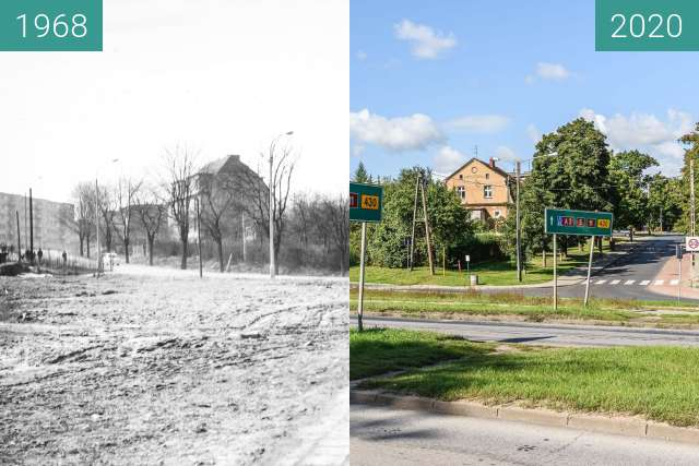 Before-and-after picture of Ulica Czechosłowacka between 1968 and 2020-Sep-10