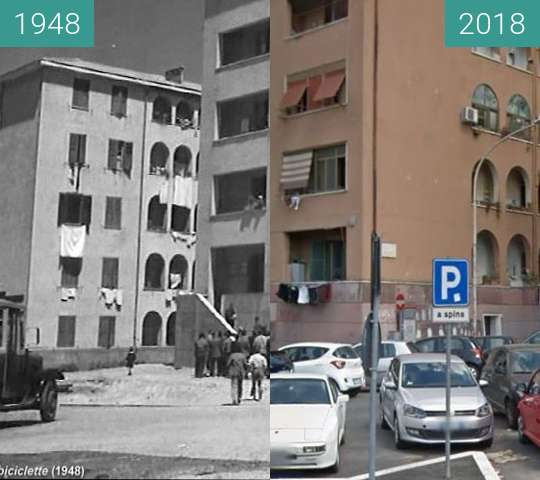 Before-and-after picture of Rome: Ladri di Biciclette 70 years on #2 between 1948 and 2018