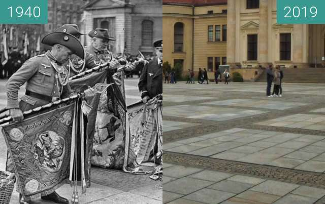 Before-and-after picture of Berlin Metallspende 1940 between 1940-Apr-19 and 2019-Oct-19