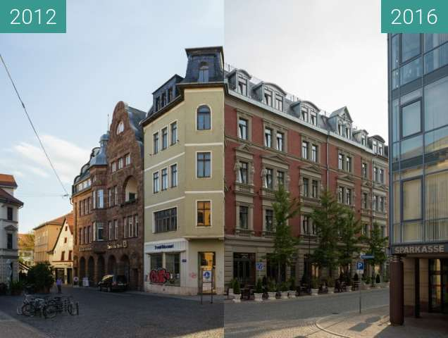 Before-and-after picture of Der Puschkinstraße 1 neue Kleider between 2012-Apr-23 and 2016-Aug-19
