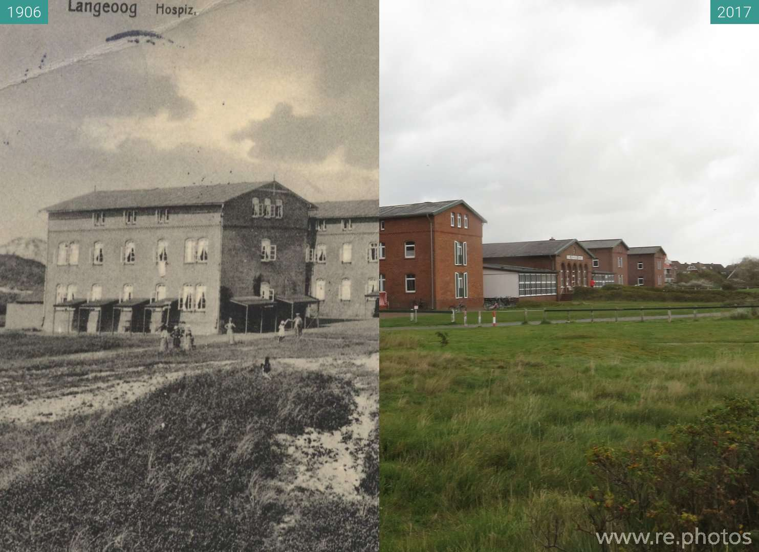 Before and After Haus Kloster Loccum 1906 & 2017 Oct 04